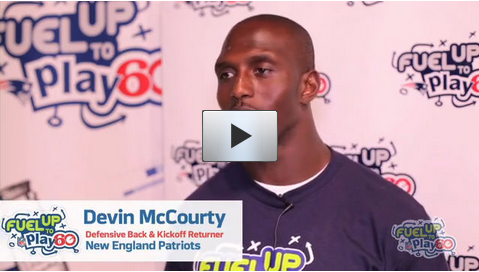 Devin McCourty Fuel Up to Play 60