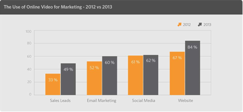 The Use of Online Video for Marketing - 2012 vs. 2013