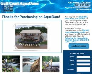 Gulf Coast Aqua Dams
