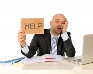 exasperated employee