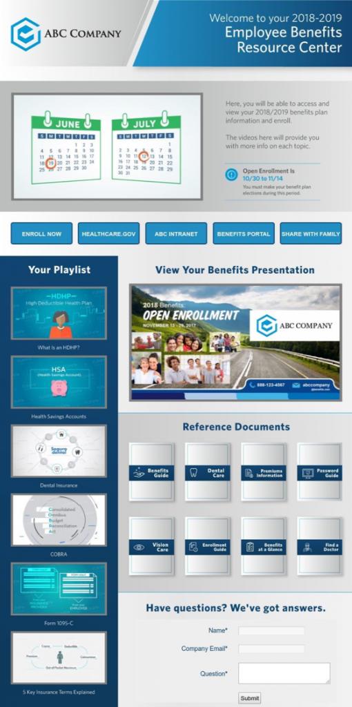 example employee benefits resource center