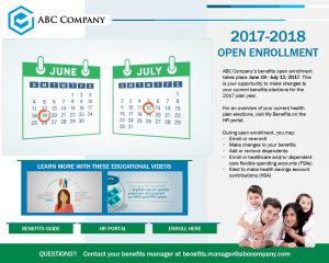 sample open enrollment communication