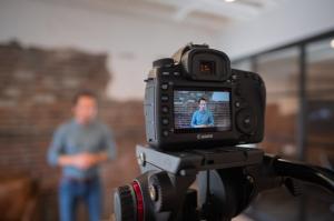 filming testimonial video