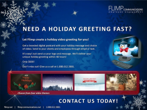 holiday digital communications