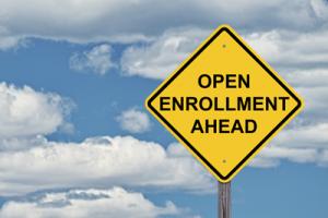 open enrollment sign